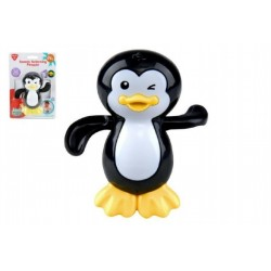 Tučňák natahovací do vany plast 11cm na kartě 24m+