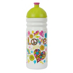 Zdravá láhev - 0,7l - Hippies - bílá