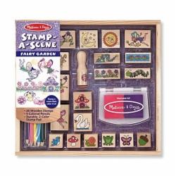 Dřevěná razítka v krabici - Kouzelná zahrádka