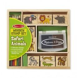 Dřevěná razítka v krabici - Safari