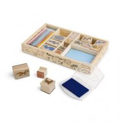 Dřevěná razítka v krabici - Animals