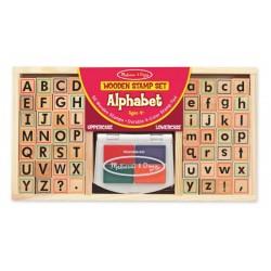 Dřevěná razítka v krabici - Abeceda