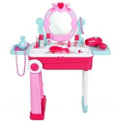 Dětský toaletní stolek v kufříku 2v1 Bayo, Růžová