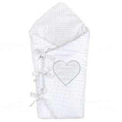 Luxusní šněrovací zavinovačka z Minky New Baby bílá 75x75 cm, Bílá