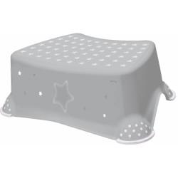 Stolička, schůdek s protiskluzem Baby Star - šedý