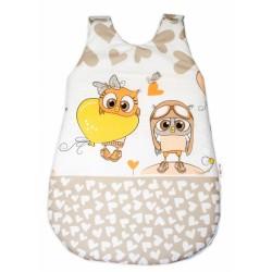 Spací vak Cute Owls - béžový