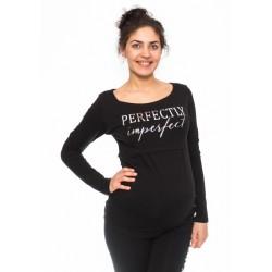 Těhotenské, kojící triko Perfektly - černé