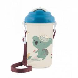Canpol babies Sportovní láhev se slámkou Adventure - Koala modrá