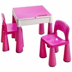 TEGA Sada nábytku pro děti - stoleček a 2 židličky - růžová