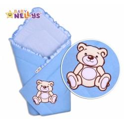 Zavinovačka TEDDY BEAR Baby Nellys - jersey - modrá