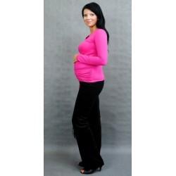 Těhotenské triko ELLIS - růžová