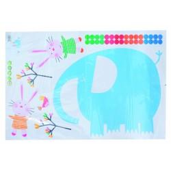 Nástěnná dekorace - slon a zajíčci