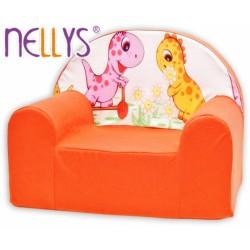 Dětské křesílko/pohovečka Nellys ® - Dino