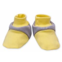Botičky/ponožtičky Baby Nellys ® - Balónek ve žluté