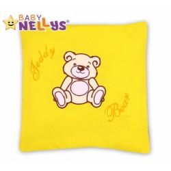 Polštářek 40x40 TEDDY BEAR Baby Nellys - žlutý