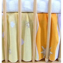 VÝPRODEJ Krásný volánek pod matraci - Městečko pomeranč