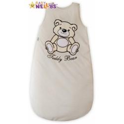 Spací vak TEDDY BEAR Baby Nellys - smetanový, ecru vel. 1