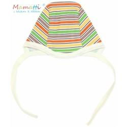 Čepička Mamatti - CAR- barevné proužky