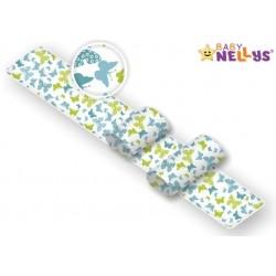 Polohovací válečky Baby Nellys pro miminko, Motýlci - žlutí, modří