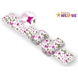 Polohovací válečky Baby Nellys pro miminko, Motýlci - růžoví