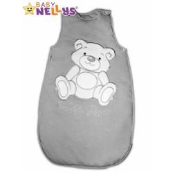 Spací vak TEDDY BEAR Baby Nellys - šedá vel. 0+
