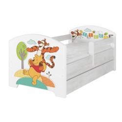 Dětská postel Disney s šuplíkem - Medvídek PÚ