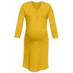 Těhotenská, kojící noční košile PAVLA 3/4 - žlutá