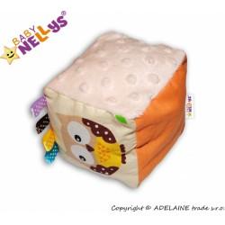 Látková edukační kostka Baby Nellys® - mix barev