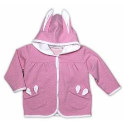 Kabátek/mikinka NICOL PŘÁTELÉ - růžová s oušky