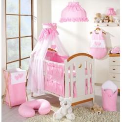 Luxusní mega set s výšivkou Š - Srdíčko růžové