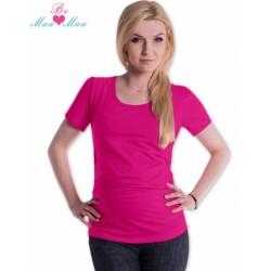 Triko JOLY bavlna nejen pro těhotné - sytě růžové