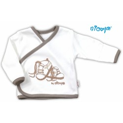 Bavlněná košilka NICOL STEP BY STEP - BOTIČKY v bílé