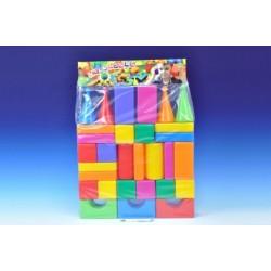 Stavebnice kostky velké 30ks plast v sáčku 47x66x8cm