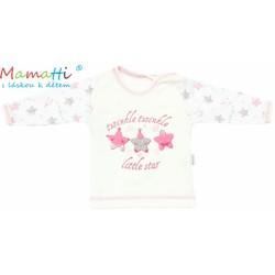 Tričko/košilka dlouhý rukáv Mamatti - STAR - smetanové/hvězdičky