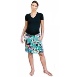 Letní těhotenská sukně s kapsami - vzor č. 06