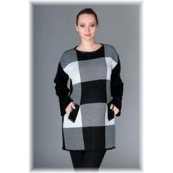 Těhotenský tunika/šaty OLIVIE - kostka šedá