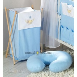 Luxusní praktický koš na prádlo - HOUPAČKA modrá