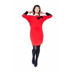 Těhotenské šaty/tunika EMMA - červená