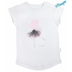 Dětské bavlněné tričko Nicol, Baletka - krátký rukáv, šedé, vel. 110