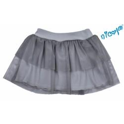 Dětská sukně Nicol, Baletka - šedá