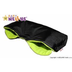 Rukávník ke kočárku Baby Nellys ® flees - černý/zelená