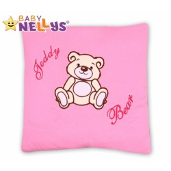 Polštářek 40x40 TEDDY BEAR Baby Nellys - sv. růžový