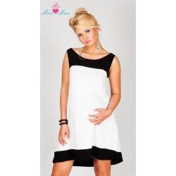 Těhotenské šaty HALINA - bílé