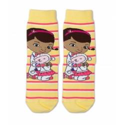 Bavlněné ponožky Disney Doc McStuffins - žluté