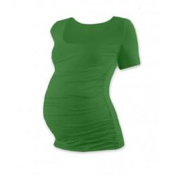 Těhotenské triko krátký rukáv JOHANKA - tmavě zelená