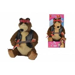 Máša a Medvěd Míša rocker hrající, 30 cm