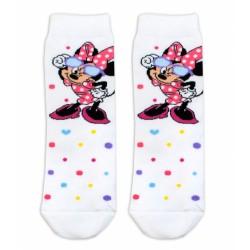 Bavlněné ponožky Disney Minnie s brýlemi  - smetanové