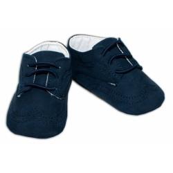YO ! Kojenecké boty/capáčky prošívané - granátové