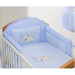 Luxusní 5D set s nebesy z celé látky Mamo Tato - Snílek modrý