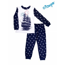 Dětské pyžamo Nicol, Sailor - bílé/tm. modré, vel. 92